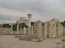 Rovine della cattedrale in Hersones, Crimea, immagine stock
