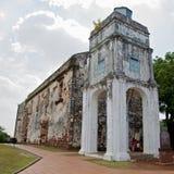 Rovine della chiesa della st Paul Fotografia Stock