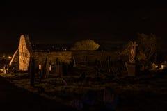 Rovine della chiesa di Ardmore Fotografie Stock Libere da Diritti