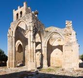 Rovine della chiesa di Santa Eulalia in Palenzuela Fotografia Stock