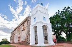 Rovine della chiesa di St Paul Fotografia Stock