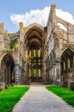 Rovine della chiesa nell'abbazia della La Ville, Belgio di Villers Fotografia Stock Libera da Diritti