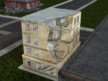 Rovine della città Illustrazione Vettoriale