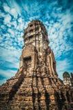 Rovine della città antica Ayutthaya Fotografie Stock