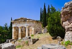 Rovine della città antica Delfi, Grecia Fotografie Stock
