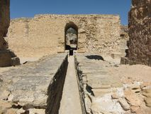 Rovine della città antica di Cartagine in Tunisia fotografie stock libere da diritti