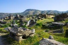 Rovine della città antica di Hierapolis immagine stock