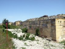 Rovine della città antica di Histria Fotografia Stock
