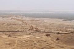Rovine della città antica di Palmira Immagini Stock