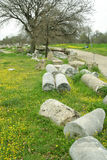 Rovine della città antica di troia Fotografie Stock Libere da Diritti