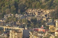 Rovine della città Baiae Fotografia Stock Libera da Diritti