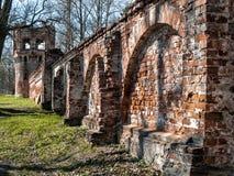 Rovine della città complessa architettonica di Fedorovsky in Tsarskoye Fotografia Stock Libera da Diritti