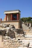 Rovine della città di Knossos Fotografia Stock