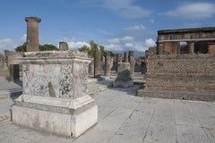 Rovine della città di Pompei Immagine Stock Libera da Diritti