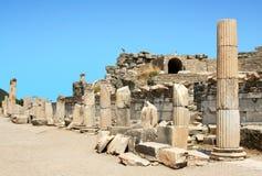 Rovine della città greca Ephesus Fotografie Stock Libere da Diritti