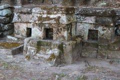 Rovine della città Quiahuiztlan, stato del pre-latino-americano di Veracruz fotografia stock