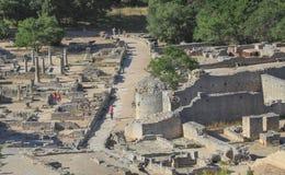 Rovine della città romana Glanum Fotografia Stock Libera da Diritti