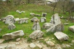 Rovine della città troy antica Immagine Stock