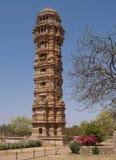 Rovine della cittadella di Chittorgarh nel Ragiastan, India fotografia stock libera da diritti