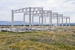 Rovine della costruzione agro Fotografia Stock
