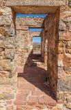 Rovine della fattoria di Kanyaka di abbandono. Australia Meridionale fotografia stock libera da diritti