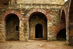 Rovine della fortezza del Suceava fotografie stock libere da diritti