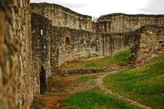 Rovine della fortezza del Suceava fotografia stock