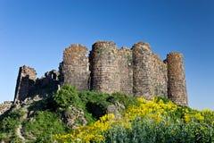 Rovine della fortezza di Amberd Immagini Stock Libere da Diritti