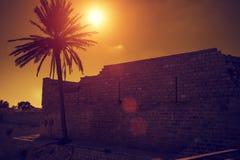 Rovine della fortezza di Cesarea Fotografia Stock Libera da Diritti