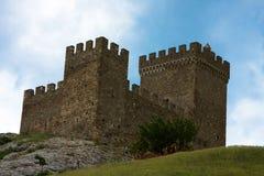 Rovine della fortezza di Genova Fotografia Stock