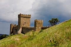 Rovine della fortezza di Genova Fotografie Stock