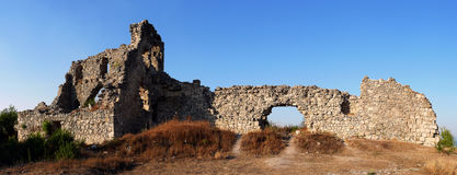 Rovine della fortezza di Mangup Fotografie Stock
