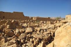 Rovine della fortezza di Masada immagini stock libere da diritti
