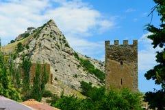 Rovine della fortezza genovese Immagine Stock Libera da Diritti
