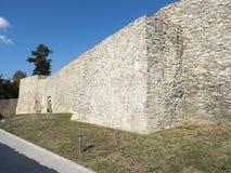 Rovine della fortezza medievale in Drobeta Turnu Severin Fotografia Stock Libera da Diritti
