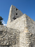 Rovine della fortezza medievale in Drobeta Turnu Severin Fotografia Stock