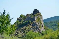 Rovine della fortezza medievale Liteni. Fotografia Stock