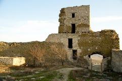 Rovine della fortezza medioevale Enisala Fotografia Stock Libera da Diritti