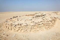 Rovine della fortificazione di Zekreet nel Qatar Fotografia Stock