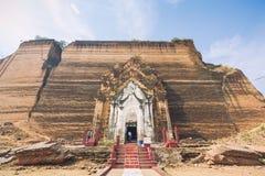 Rovine della pagoda di Mingun fotografia stock libera da diritti