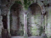 Rovine della parete del castello Fotografie Stock