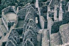 Rovine della pietra di una città di inca Immagine Stock