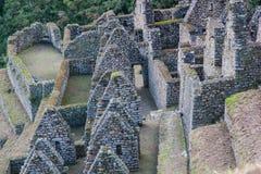 Rovine della pietra di una città di inca nelle Ande Immagini Stock