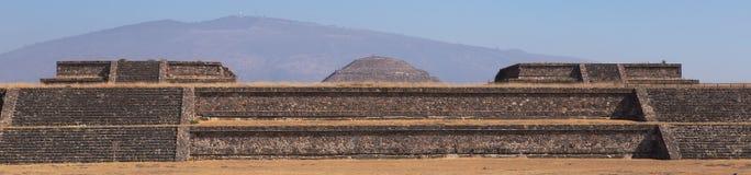 Rovine della piramide e del tempio di Sun di Teotihuacan mexico Fotografia Stock