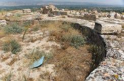 Rovine della settima chiesa di Apocalypsis in Laodikeia immagini stock libere da diritti