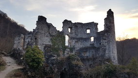 Rovine della torre del castello di vecchia città Samobor Croazia Immagini Stock