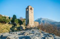 Rovine della torre di orologio in vecchio Antivari Fotografia Stock