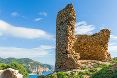 Rovine della torre medievale Immagini Stock Libere da Diritti