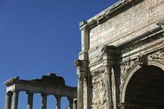 Rovine della tribuna antica a Roma Immagine Stock Libera da Diritti