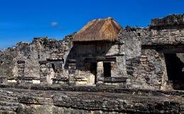 Rovine delle città antiche di maya immagine stock